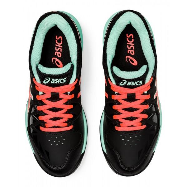 Asics Gel-Peake Women Hockey Shoes Black/Flash Coral 2020