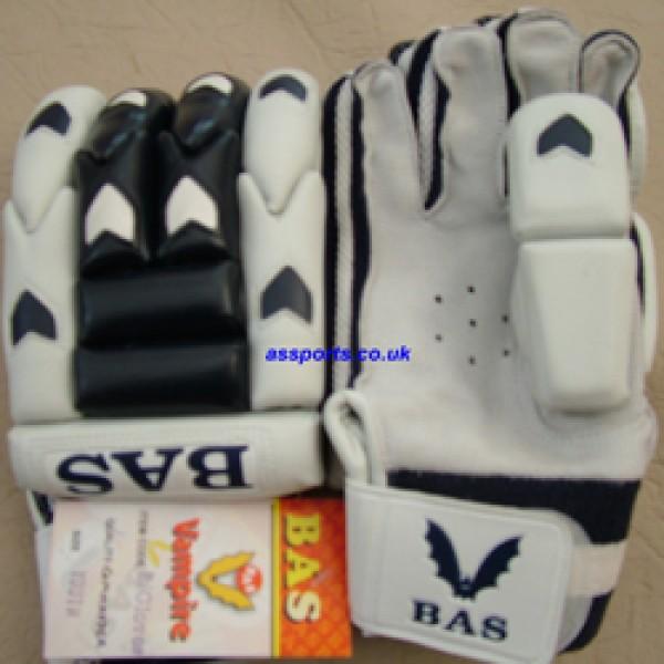 BAS Commander Junior Batting Gloves (White/Navy)
